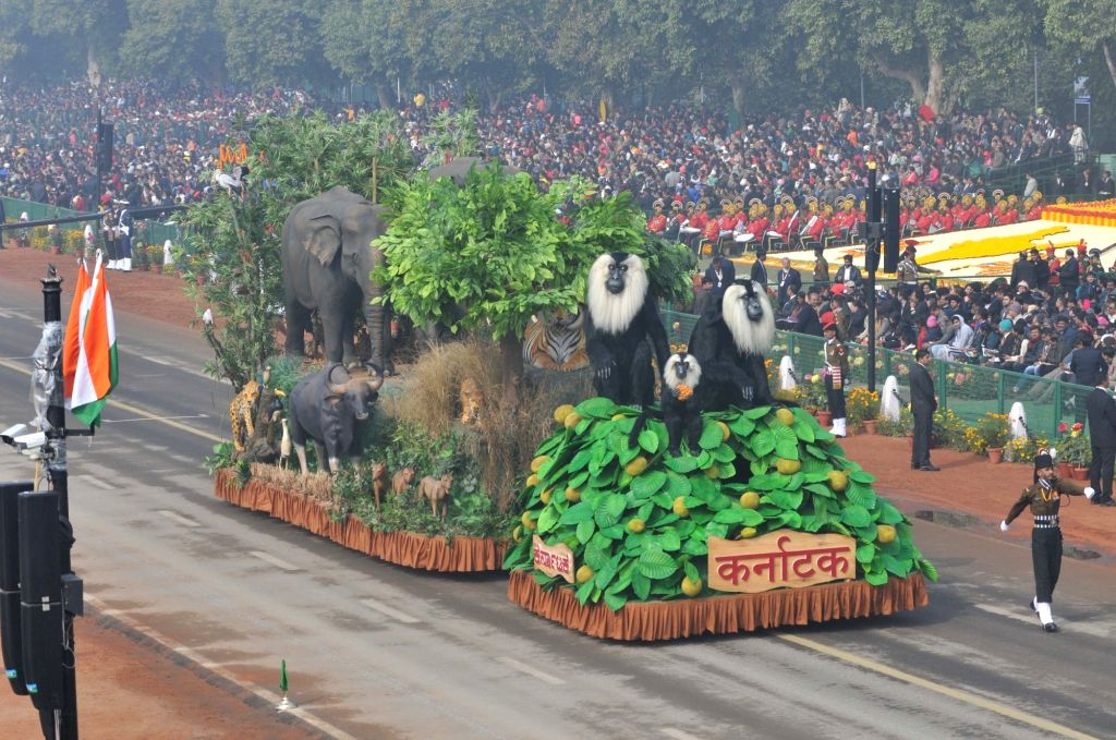 Tableau of Karnataka during Republic Day Parade 2018 underway on Rajpath in New Delhi Jan 26, 2018.