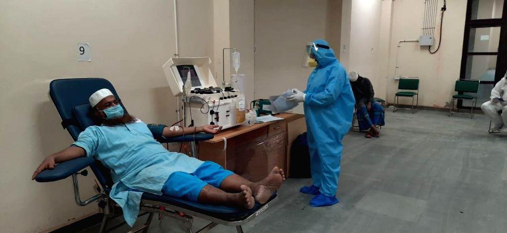 Tablighi Jamaat people donate blood plasma to other corona patients.
