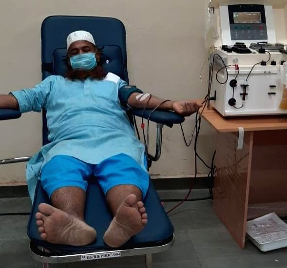 Tablighi Jamaat people donate blood plasma to other corona patients.