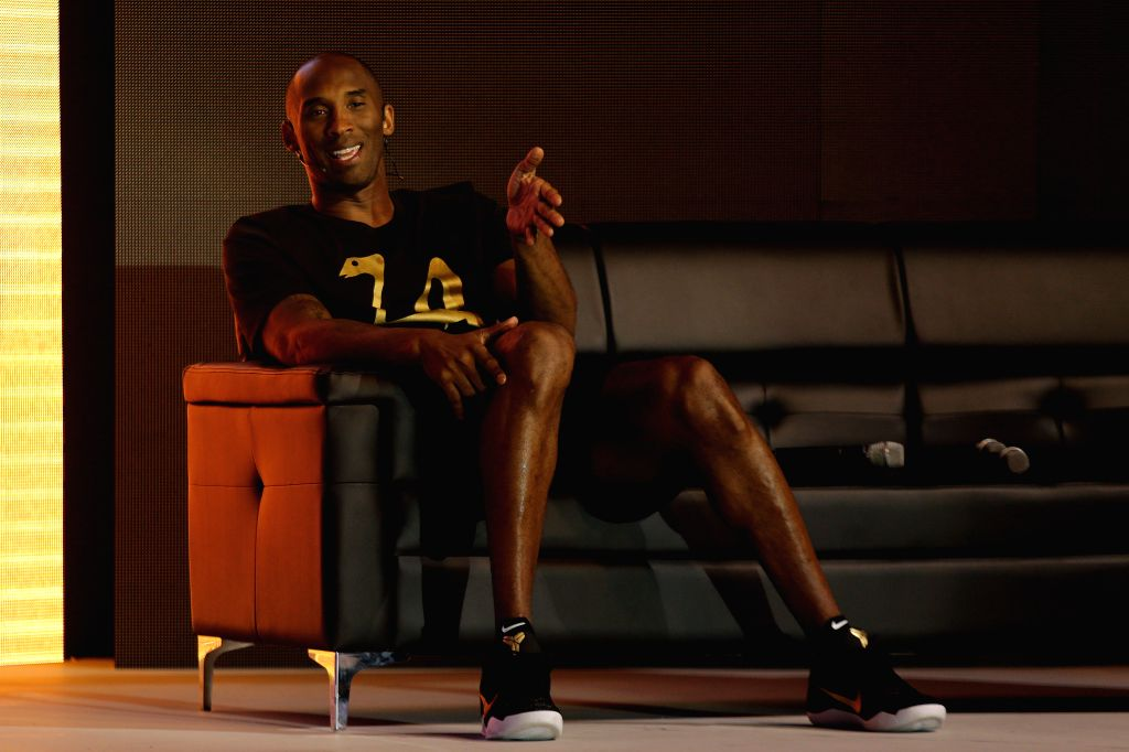 TAGUIG CITY, June 25, 2016 - Basketball icon Kobe Bryant speaks at a press conference for the Mamba Mentality Tour in Taguig City, the Philippines, June 25, 2016. Kobe Bryant is in the Philippines ...