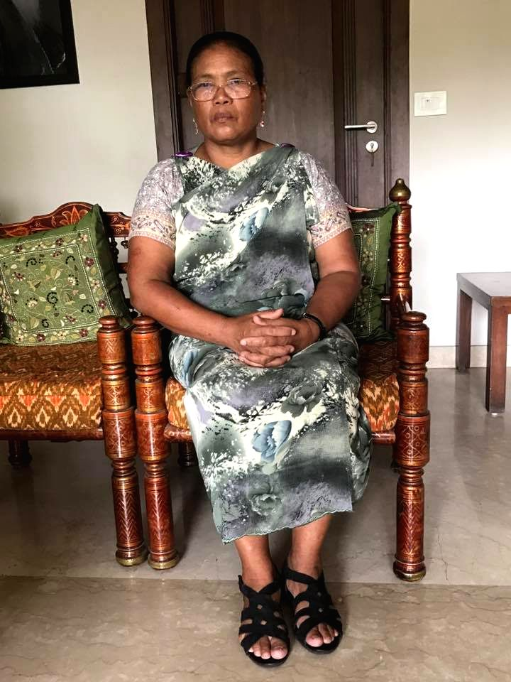 Tailin Lyngdoh, a governess who was shunted out of the Delhi Golf Club for wearing a Jainsem, a dress worn by the indigenous Khasi women in Meghalaya on 25th June 2017. Lyngdoh had gone to the Club ...