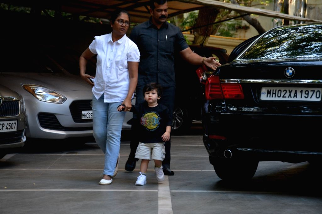 Taimur Ali Khan, son of actors Saif Ali Khan and Kareena Kapoor seen at Bandra, in Mumbai on March 6, 2019. - Saif Ali Khan, Kareena Kapoor and Taimur Ali Khan