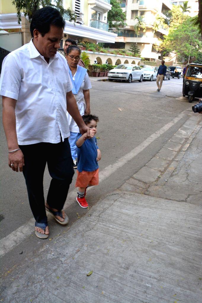 Taimur Ali Khan, son of actors Saif Ali Khan and Kareena Kapoor Khan seen at Mumbai's Bandra on March 15, 2019. - Saif Ali Khan, Kareena Kapoor Khan and Taimur Ali Khan