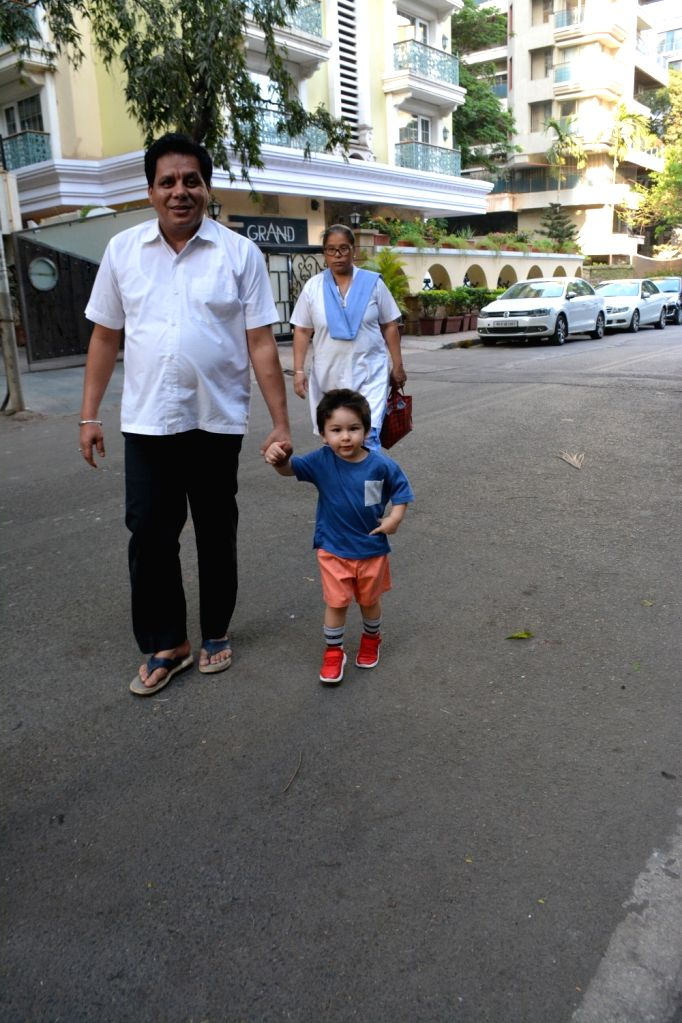Taimur Ali Khan, son of actors Saif Ali Khan and Kareena Kapoor Khan seen at Mumbai's Bandra on March 15, 2019. - Saif Ali Khan, Kareena Kapoor Khan and Taimur Ali Khan