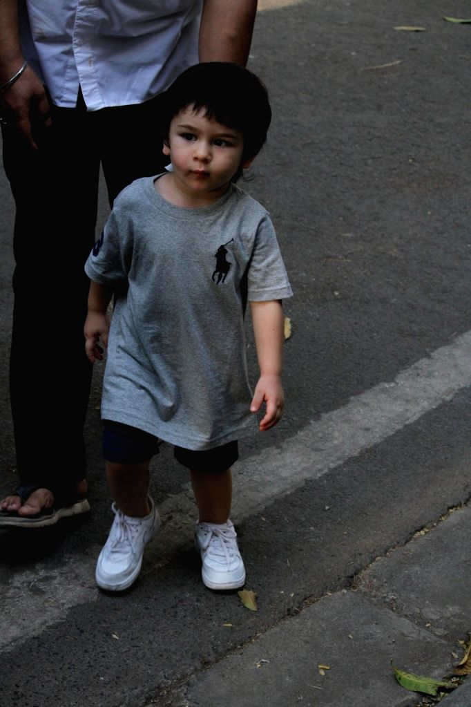 Taimur Ali Khan, son of actors Saif Ali Khan and Kareena Kapoor Khan seen in Mumbai's Bandra, on April 2, 2019. - Saif Ali Khan, Kareena Kapoor Khan and Taimur Ali Khan