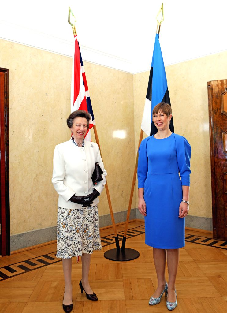 TALLINN, May 31, 2019 - Estonian President Kersti Kaljulaid (R) meets with Princess Anne, the Princess Royal of Britain, in Tallinn, Estonia, May 30, 2019. Estonian President Kersti Kaljulaid on ...