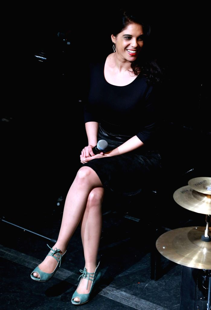 Talya G.A Solan from the Kedem Ensemble sings at the International Theater in Frankfurt, Germany, on Jan. 16, 2016. Talya G.A Solan is an independent Israeli ...