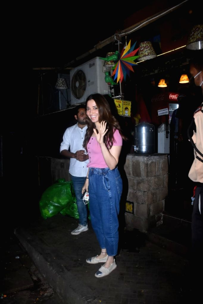 Tamanna Bhatia With Friend Spotted At Bandra on Tuesday 23rd February 2021.