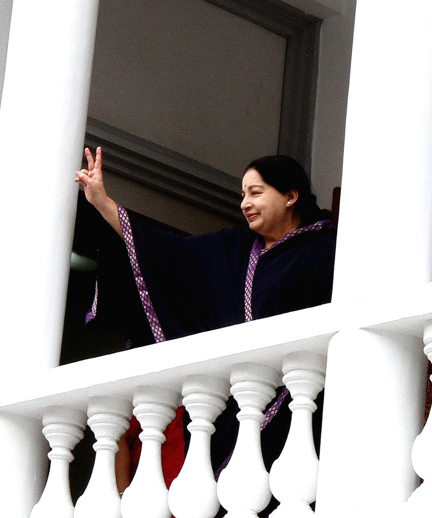 Tamil Nadu Chief Minister and AIADMK chief J Jayalalithaa during the party executive meeting in Chennai on June 18, 2016.