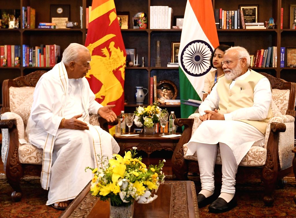 Tamil National Alliance (TNA) delegation led by R. Sampanthan calls on Prime Minister Narendra Modi in Colombo, Sri Lanka on June 9, 2019. - Narendra Modi