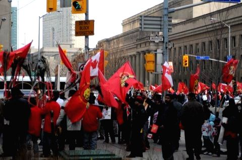 Tamils protesting 'genocide' in Sri Lanka clog the streets of Toronto.