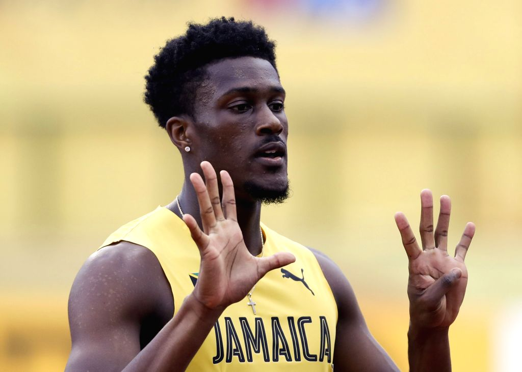 TAMPERE, July 13, 2018 - Damion Thomas from Jamaica competes during the 110 meters hurdles (99.0cm) at the IAAF (International Association of Athletics Federations) World U20 Championships in ...