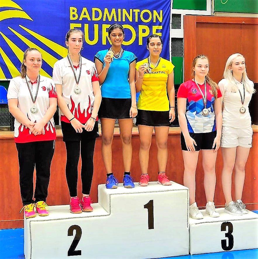 Tanisha Crasto and Aditi Bhatt won gold in girl's doubles at the Bulgarian Junior International Championships.