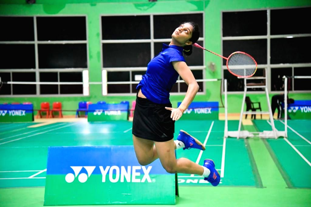 Tanisha Crasto in action during Badminton Asia Junior Championships 2019 at the Suzhou Olympic Sports Centre in China on July 25, 2019.
