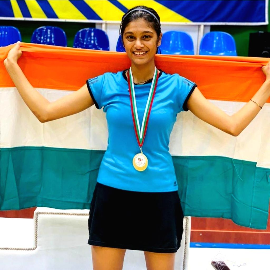Tanisha Crasto won gold medal in the girls' doubles category in Bulgarian Junior International Championships.