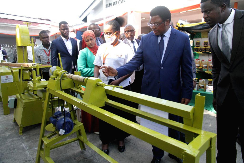 Tanzanian Prime Minister Kassim Majaliwa (2nd R) visits the 44th Dar es Salaam International Trade Fair (DITF) in Dar es Salaam, Tanzania, on July 3, 2020. The ... - Kassim Majaliwa
