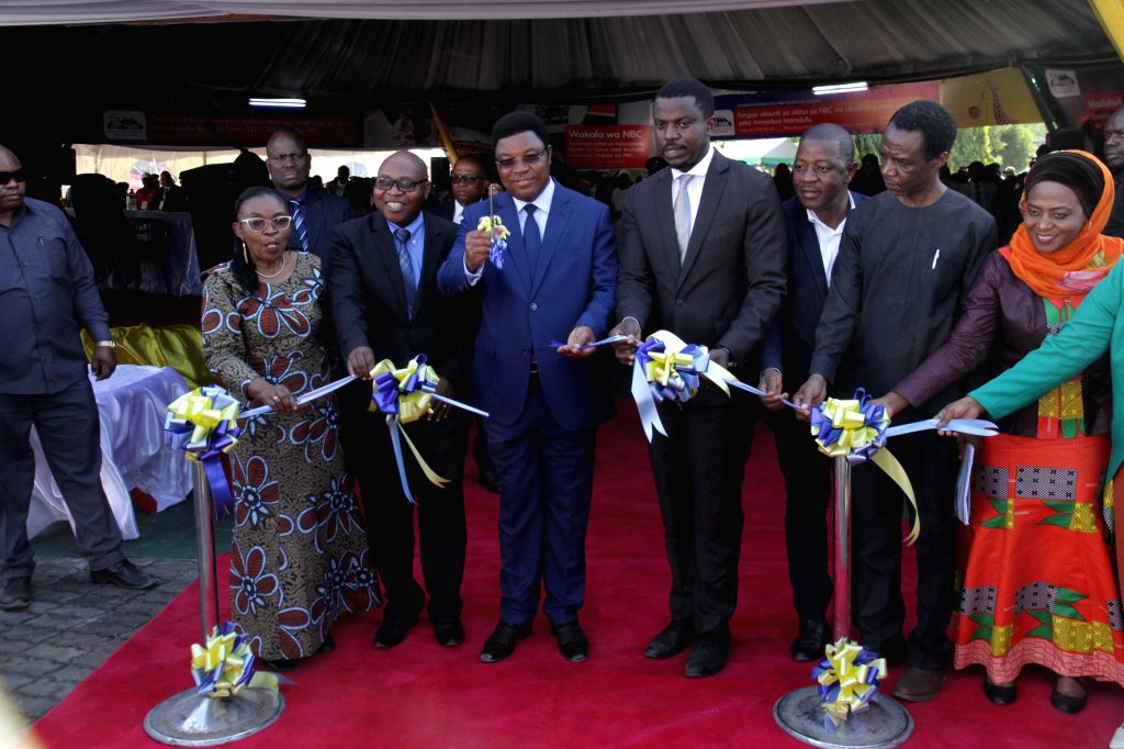 Tanzanian Prime Minister Kassim Majaliwa (5th R, Front) attends the opening ceremony of the 44th Dar es Salaam International Trade Fair (DITF) in Dar es ... - Kassim Majaliwa