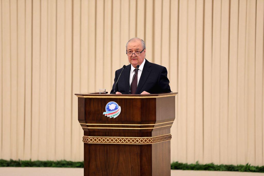 TASHKENT, Feb. 20, 2019 - Uzbek Foreign Minister Abdulaziz Kamilov speaks during the opening of an international conference in Tashkent, Uzbekistan, Feb. 19, 2019. A two-day international conference ... - Abdulaziz Kamilov