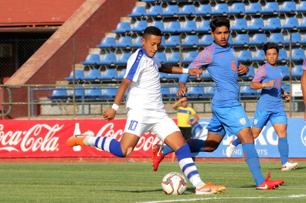 Tashkent: Players in action during the AFC U-16 Championship Qualifiers match between India and Uzbekistan at Transport Institute Stadium in Tashkent, Uzbekistan on Sep 22, 2019. (Photo: IANS)