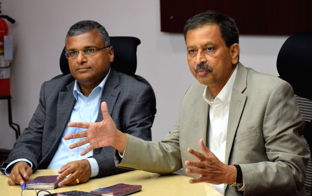 Tata Consultancy Services (TCS) Vice President and General Manager (Eastern Region) Suresh G. Menon and TCS Vice President and Head of Global Human Resources Ajoyendra Mukherjee during a ... - Suresh G. Menon