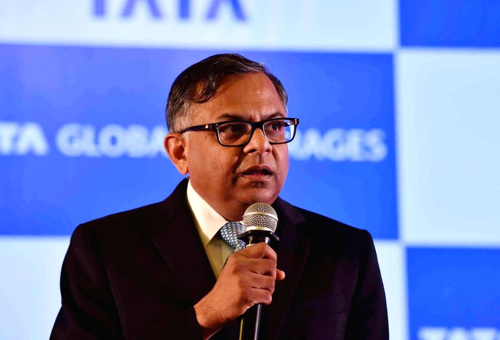Tata Global Beverages chairman N. Chandrasekaran addresses share holders during the 54th Annual General Meeting of the company in Kolkata on Aug 18, 2017.