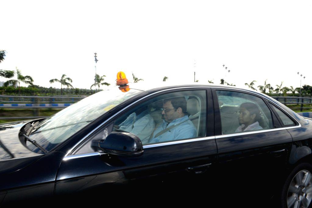 Tata Group Chairman Cyrus Mistry arriving at NSCBI Airport in Kolkata on July 14, 2013.