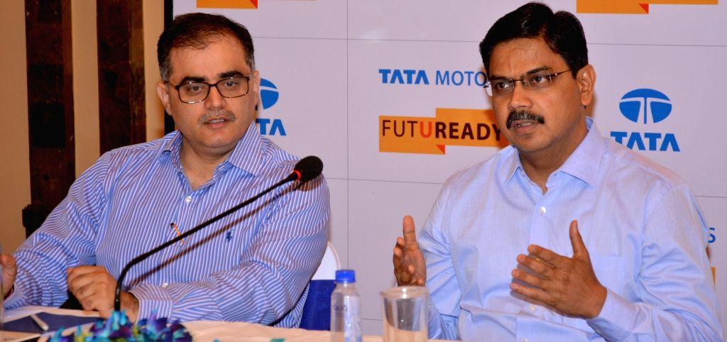 Tata Motors Heavy Commercial Vehicles Head (Sales & Marketing Medium) and Medium and Heavy Commercial Viehicles Girish Wagh during Tata Motors Round Table Meet in Kolkata, on May 12, ...