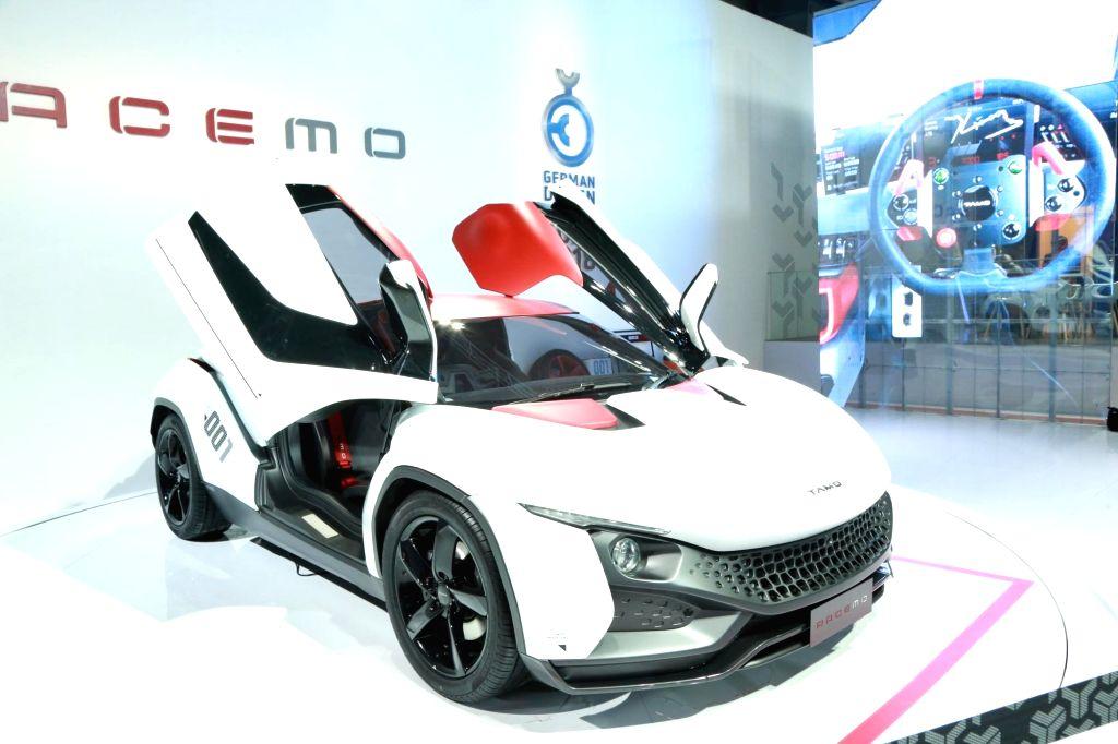 Tata Motors' Tamo Racemo at the Auto Expo 2018 in New Delhi on Feb 8, 2018.