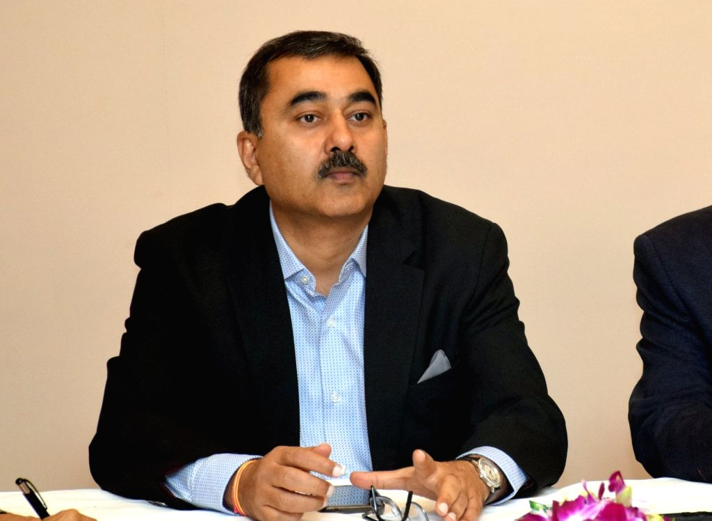 Tata Motors Vice President and Head (Buses) Rohit Shrivastava during a media interaction programme in Kolkata on Feb 20, 2019.