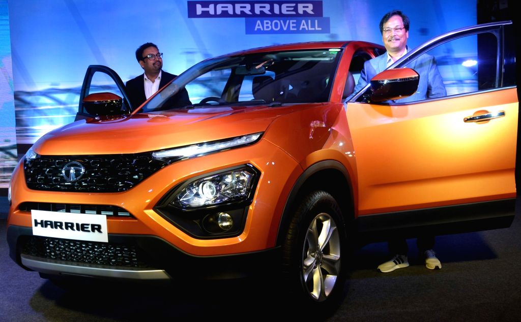 Tata Motors Vice President (Sales, Marketing and Customer Support - Passenger Vehicles Business Unit) S. N. Barman and Design Head Pratap Bose at the launch of Tata Harrier SUV in Kolkata, ... - Head Pratap Bose