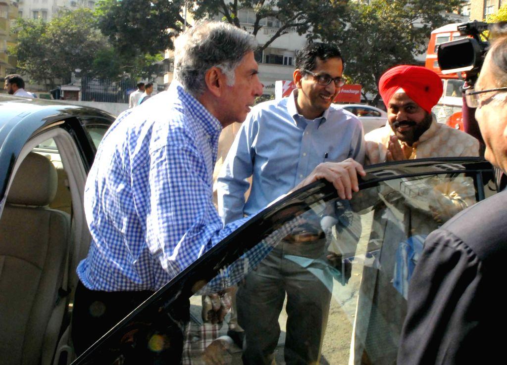 Tata Sons' interim Chairman Ratan Tata arrives to attend company's EGM in Mumbai on Dec 20, 2016. - Ratan Tata