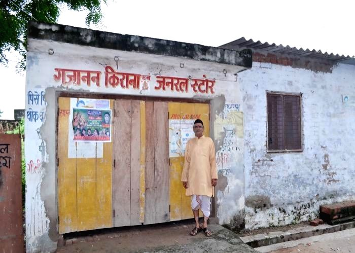 Tatya Tope's great grandson running a small grocery shop in Bithur, Kanpur.