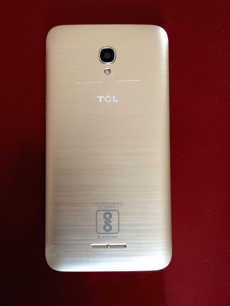 TCL 560 smartphone with eye-verification technology.