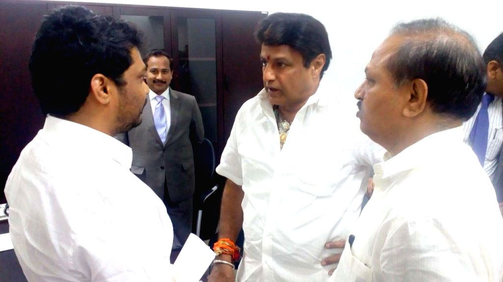 TDP MLA Nandamuri Balakrishna at the state assembly, in Vijayawada on Feb 5, 2019.