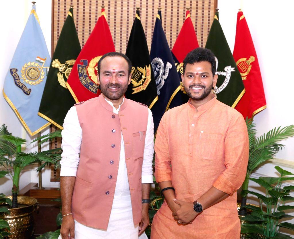TDP MP from Srikakulam, Mohan Naidu meets Union MoS Home Affairs G. Kishan Reddy, in New Delhi on July 17, 2019. - Mohan Naidu