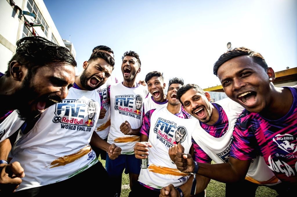Team India celebrates at Neymar Jr's Five World Final 2018.