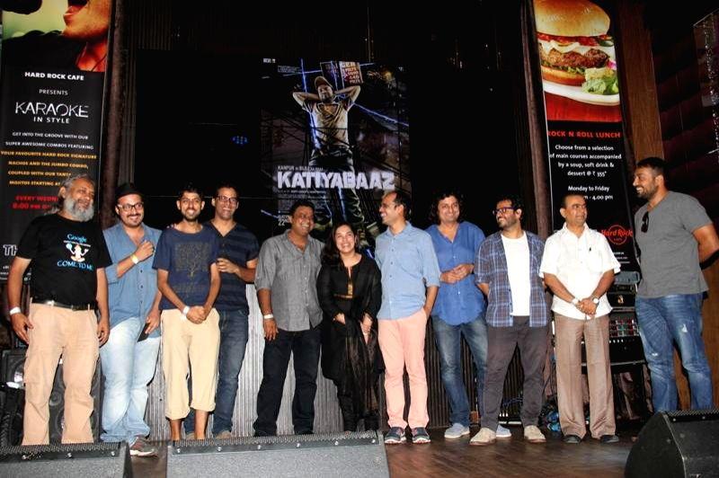 Team Katiyabaaz during the music launch of film Katiyabaaz in Mumbai on Aug 11, 2014.