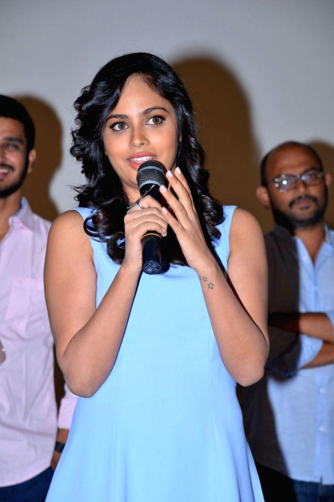 Teaser launch of Telugu film `Ekkadiki Potavu Chinnavada` in Hyderabad on Oct. 15, 2016.