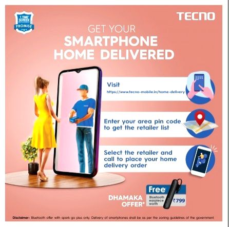 TECNO launches 'doorstep delivery' with 35,000 retailers.
