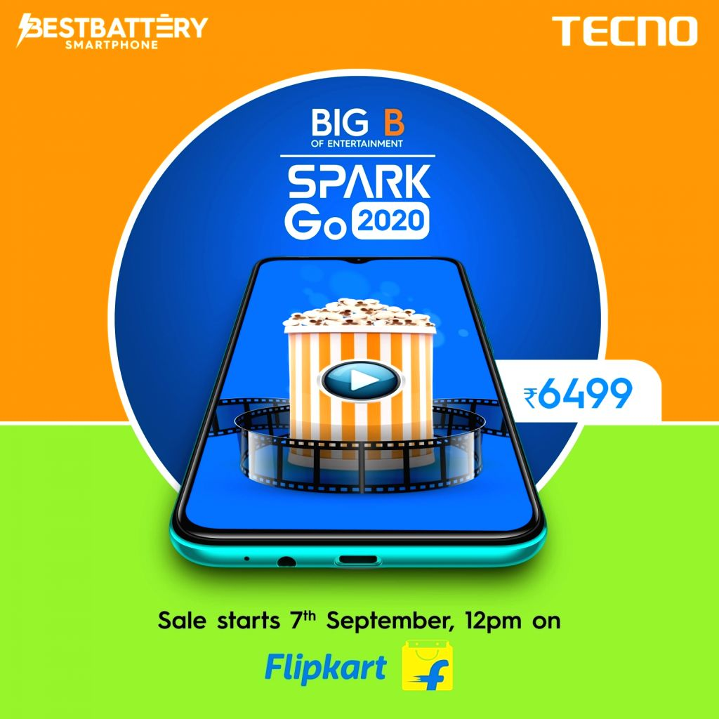 TECNO launches SPARK Go 2020 with 5000mAh battery in India