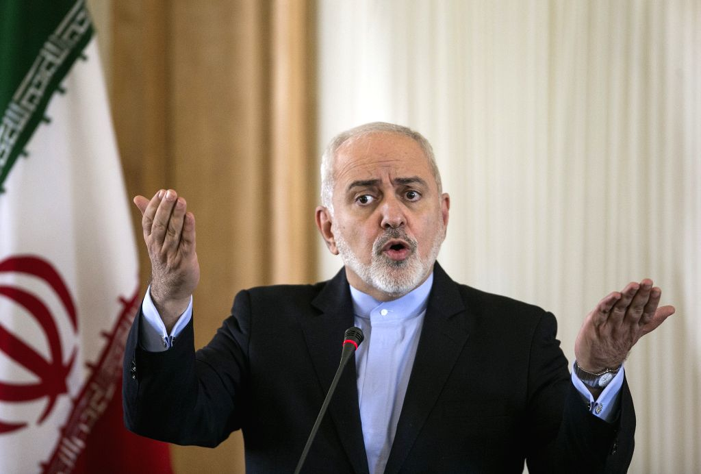 TEHRAN, Feb. 13, 2019 - Iranian Foreign Minister Mohammad Javad Zarif speaks during a press conference in Tehran, capital of Iran, on Feb. 13, 2019. Zarif said here Wednesday that the anti-Iran ... - Mohammad Javad Zarif