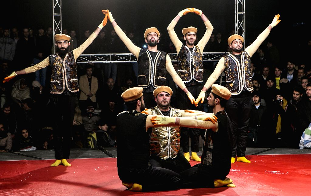 TEHRAN, Feb. 20, 2019 - Actors perform during the 37th Fadjr International Theater Festival in Tehran, capital of Iran, Feb. 19, 2019.