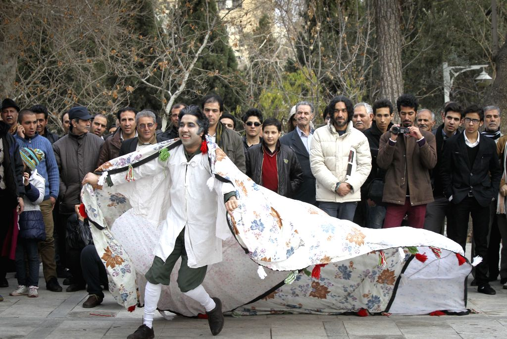 An Afghan actor performs during the 33rd Fajdr International Theater Festival in downtown Tehran, Iran, Jan. 30, 2015. Iran holds the Fajdr International Theater ...
