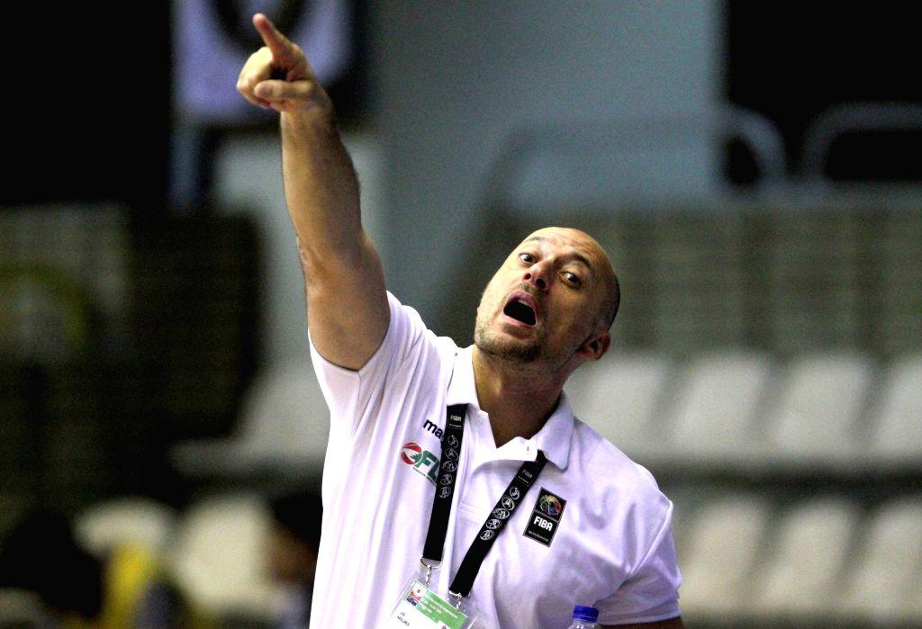 TEHRAN, July 26, 2016 - Joe Nebhan Moujaes, head coach of Lebanon, reacts during a match between Lebanon and Japan at 24th FIBA Asia U18 Championship in Tehran, Iran, on July 26, 2016. Japan lost the ...