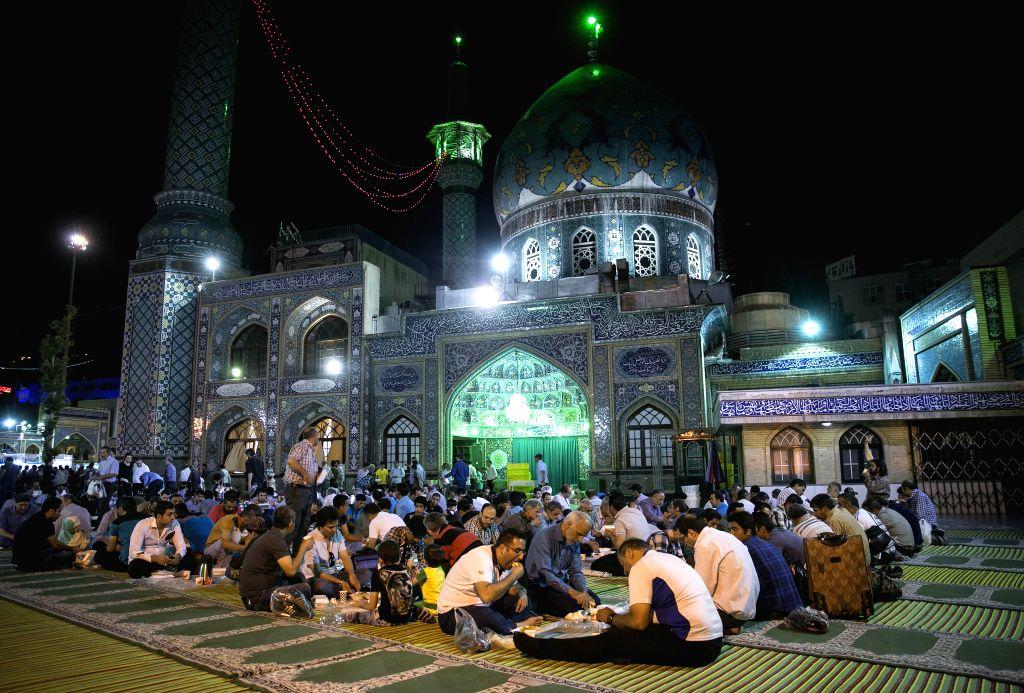 TEHRAN, June 23, 2017 - Iranian muslims break their fast during the holy month of Ramadan in Tehran, Iran, on June 22, 2017.