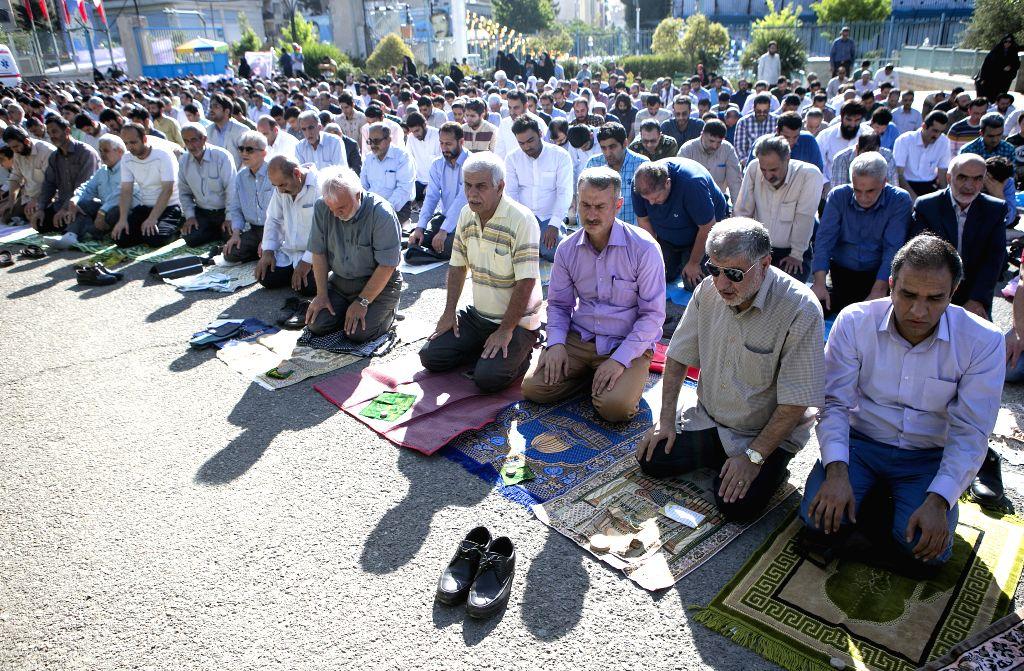 TEHRAN, June 5, 2019 - Muslims attend Eid al-Fitr prayers in Tehran, capital of Iran, on June 5, 2019.