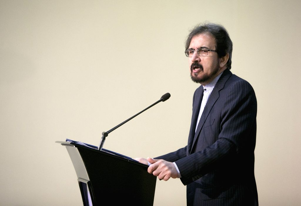 TEHRAN, March 4, 2019 - Spokesman of Iran's Foreign Ministry Bahram Qasemi attends a press conference in Tehran, Iran, on March 4, 2019. Iran's Foreign Ministry announced on Monday that a European ...