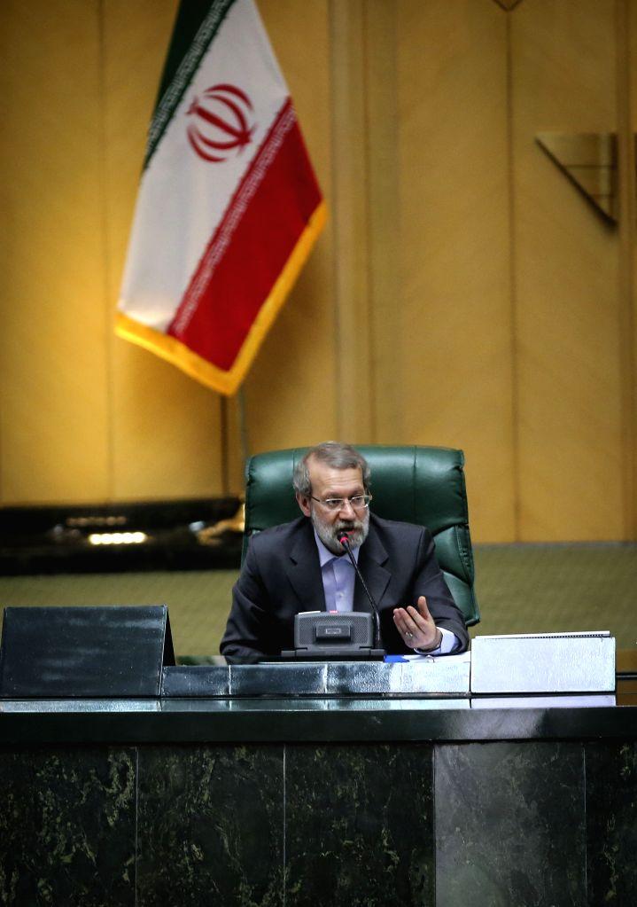 TEHRAN, May 29, 2016 - Elected interim Parliament speaker Ali Larijani speaks following the announcment of the result in Tehran, Iran, May 29, 2016. The Iranian legislators picked Ali Larijani as the ... - Ali Larijani