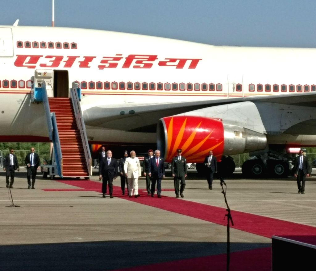 Tel Aviv: A photo shared by External Affairs Ministry spokesperson Gopal Baglay where Prime Minister Narendra Modi who is on a three-day visit to Israel - -the first by an Indian Prime Minister, is ... - Narendra Modi