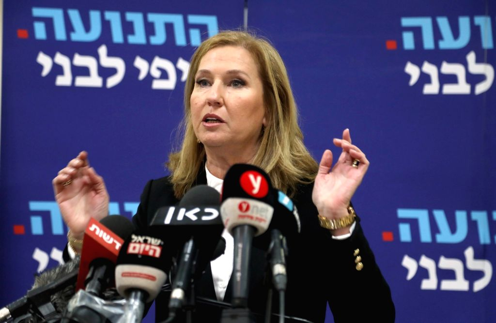 TEL AVIV, Feb. 18, 2019 - Former Israeli Foreign Minister Tzipi Livni speaks during a press conference in Tel Aviv, Israel, on Feb. 18, 2019. Tzipi Livni announced on Monday her retirement from ... - Tzipi Livni